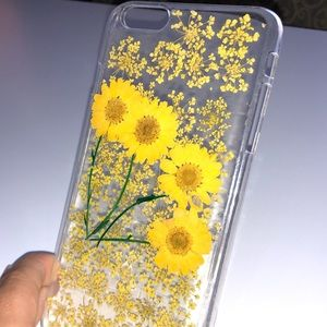 Accessories - iPhone 6 Plus Pressed Yellow Flower Case